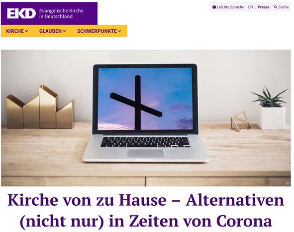 Kirche von zu Hause – Alternativen (nicht nur) in Zeiten von Corona